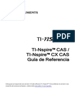 TI-NspireCAS ReferenceGuide ES