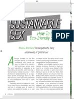 SUSTAINABLE How to Lead an SEX Eco-Friendly Sex Life