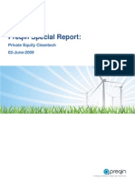 Preqin Cleantech Report