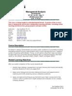 Management Analysis Syllabus