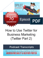 How to Use Twitter for Business Marketing (Twitter Part 2)