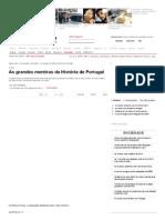 As Grandes Mentiras Da H... de Portugal - Visao