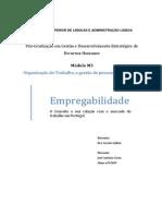 Empregabilidade o Conceito e Sua Relacao Com o Mercado de Trabalho Em Portugal
