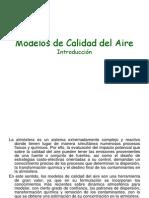 Modelos de Calidad del Aire. Introducción