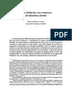Serrano, Vicente - Sobre Hölderlin y los comienzos del idealismo alemán