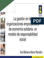 Gestion de Las Organizaciones Empresariales de Economia Solidria.