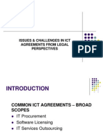 Issues & Challenges in ICT Agreements From Legal Perspectives