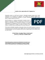 Carta Necesaria a Los Camaradas de Cajamarca