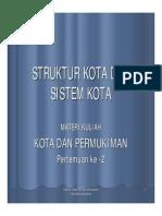 Struktur Kota Dan Sistem Kota