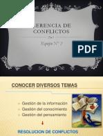 Gerencia de Conflictos