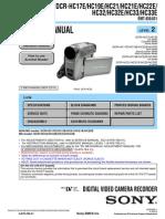 DCR-HC17E 19E 21 32