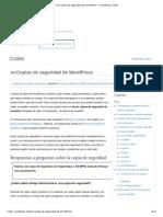 es_Copias de seguridad de WordPress « WordPress Codex