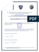 The Prohibition Act of 2014