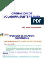 Operacion de Voladura Subterranea