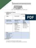 Modelo Programa Formativo de La Unidad Curricular Noviembre 2012