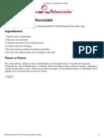 Vovó Palmirinha – Strogonoff de Chocolate