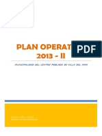 Plan Operativo - Villa Del Mar