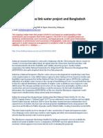 Indian Ken-Betwa Link Water Project and Bangladesh
