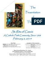 St. Rita Parish Bulletin 2/2/2014