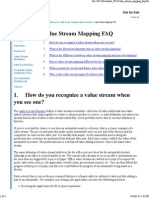 Value Stream Mapping FAQ