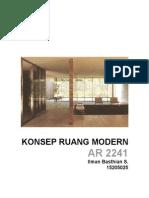 Konsep Ruang Modern
