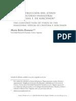 La construcción del ethos en el discurso inagural de Cristina F. de Kirchner
