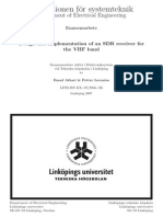 Design and Implementation of an SDR Receiver for the VHF Band Thesis