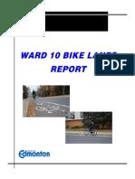 Ward 10 Bike Lanes Report