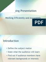 Elements of a Training Presentation