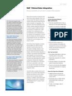 Sas Clinical Data Integration Fact Sheet