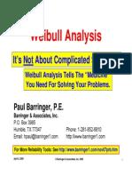 Barringer Weibull Analysis 11-17-09
