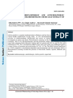 IN VITRO ANTIHISTAMINERGIC AND ANTICHOLINERGIC ACTIVITIES OF DICHLOROMETHANE CRUDE LEAF EXTRACT OF LABISIA PUMILA