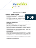 Bizguide Marketing Plan Templante