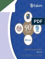 Eskom Tarriffcharges Booklet 2013-14 for Print