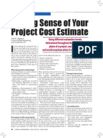 19991002 Making Sense of Your Project Cost Estimate