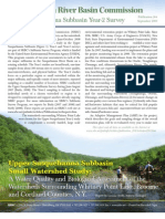 Upper Susquehanna Subbasin Small Watershed Study