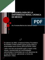 Epidemiología de la insuficiencia renal crónica en México