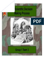 On Scientific Military Decisionmaking Process