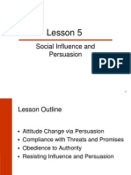 Attitude Social Influence and Persuasion