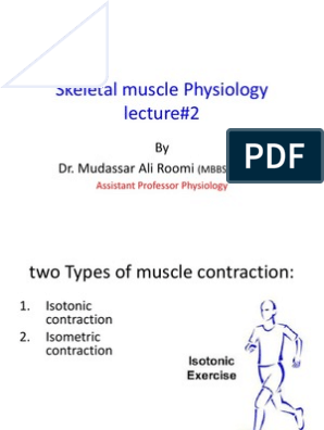 2nd Lecture on Skeletal Muscle Physiology by Dr. Mudassar Ali Roomi |  Muscle Contraction | Motor Neuron