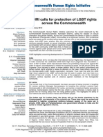 CHRI calls for protection of LGBT rights across the Commonwealth.