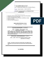 Kammaraj Resume 2013