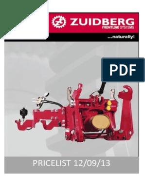 1  Zuidberg Pricelist Update September 2013 | Tractor
