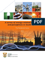 Survey of Energy Related Behaviour and Perception in SA - Residential Sector - 2012