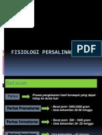 Fisiologi Persalinan Dr. Dovy Spog