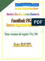 Resumen y Diferencias de Reglamento General Del Seguro de (r 390) y El (La (r741)