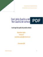 Argiolu - AICQ - Costi della Qualità e della non Qualità Software