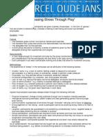 Releasing Stress Through Play - 1hr Programme - Brochure | Marcel Oudejans