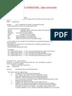 Unix Tape Commands