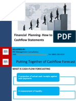 Financial  Planning- How to produce Cashflow Statements